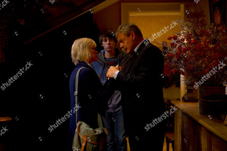 Hermione Norris as Olivia, Alexander Armstrong as Jamie and Martin Clunes as Ben.