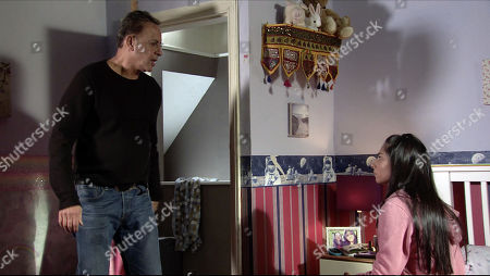 Ep 10052 Wednesday 22nd April 2020 David's appalled to see the video of Asha on Max's phone. David informs Dev Alhan, as played by Jimmi Harkishin, who then rails at Asha Alahan, as played by Tanisha Gorey.