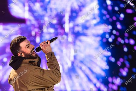 """Stock Image of Sam Hunt performing at the Times Square New Year's Eve celebration in New York. Hunt's latest album, """"Southside,"""" releases on Friday"""