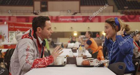 Nick Kroll as Ezra and Alexi Pappas as Penelope