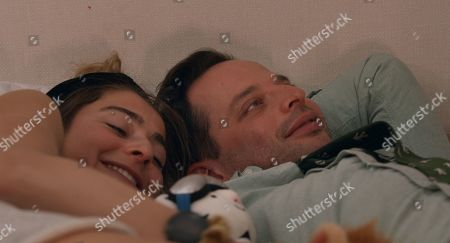 Alexi Pappas as Penelope and Nick Kroll as Ezra