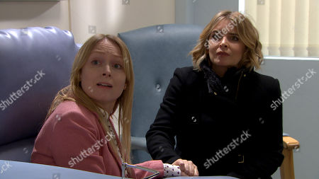 Ep 8777 Wednesday 15th April 2020 At the Hospital, Vanessa Woodfield, as played by Michelle Hardwick, and Charity Dingle, as played by Emma Atkins, are dropped off at the chemo unit, which leaves them feeling scared and vulnerable.