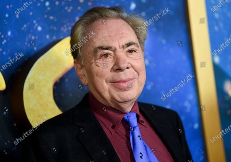 """Composer and executive producer Andrew Lloyd Webber attending the world premiere of """"Cats"""" in New York. Webber is making some of his filmed musicals available for free on YouTube. On Friday, the 2000 West End adaption of """"Joseph and he Amazing Technicolor Dreamcoat"""" starring Donny Osmond will be streamable, followed a week later by the rock classic """"Jesus Christ Superstar"""" from the 2012 arena show starring Tim Minchin"""
