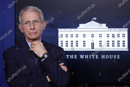 In this, Dr. Anthony Fauci, director of the National Institute of Allergy and Infectious Diseases, appears at the White House, in Washington. The National Bobblehead Hall of Fame and Museum is creating a bobblehead of Dr. Fauci, wearing a suit, as he discusses the coronavirus pandemic. Museum co-founder and CEO Phil Sklar says they will donate $5 from every $25 Fauci bobblehead that's sold to the American Hospital Association. The funds will go toward getting masks and other protective equipment for health care workers