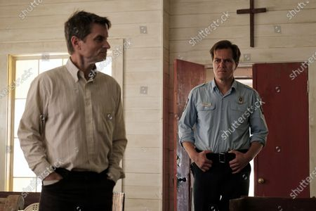 Shea Whigham as The Man and Michael Shannon as Chief Moore