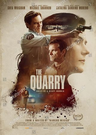 The Quarry (2020) Poster Art. Michael Shannon as Chief Moore, Shea Whigham as The Man and Catalina Sandino Moreno as Celia