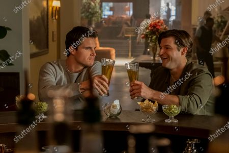 Robbie Amell as Nathan and Kevin Bigley as Luke
