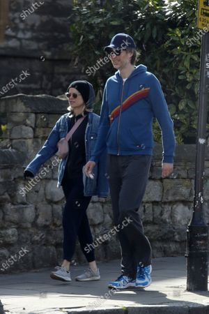 Editorial image of Stephen Merchant and Mircea Monroe out and about, London, UK - 03 Apr 2020