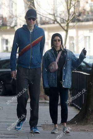 Stock Picture of Stephen Merchant and Mircea Monroe
