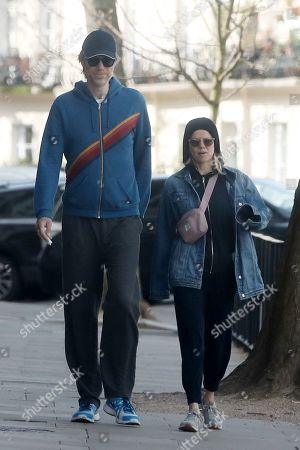 Editorial picture of Stephen Merchant and Mircea Monroe out and about, London, UK - 03 Apr 2020