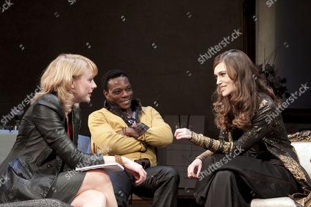 l-r: Kelly Price (Ellen), Chuk Iwuji (Julian), Keira Knightley (Jennifer)