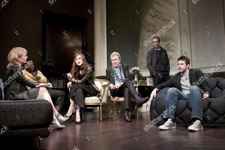 l-r: Kelly Price (Ellen), Chuk Iwuji (Julian), Keira Knightley (Jennifer), Nicholas Le Prevost (Alexander), Damian Lewis (Alceste), Dominic Rowan (John)