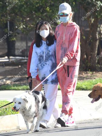 Editorial picture of Laeticia Hallyday and children out and about, Los Angeles, USA - 03 Apr 2020
