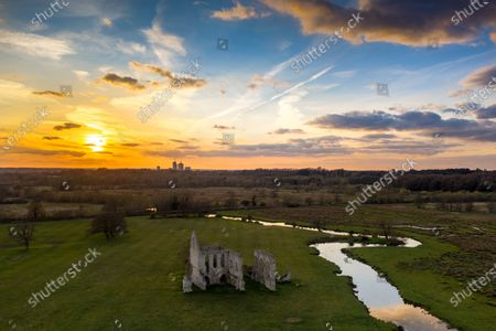 Editorial photo of Seasonal weather, Newark Priory, Ripley, UK - 03 Apr 2020