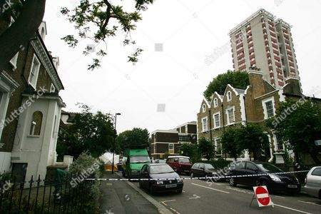Editorial picture of Guildford Road In Lambeth London Sw8 Where Frederick Moody Was Stabbed To Death Age 18 In A Dispute Over Insults Traded On The Facebook Website By Rival Gangs. Moody Was Found Bleeding To Death Outside A Row Of Town Houses Worth Up To A1million One O