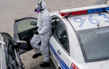 Editorial picture of Coronavirus Positive Closes Entire Baltimore Police District, Baltimire, USA - 05 Apr 2020