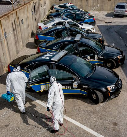 Editorial photo of Coronavirus Positive Closes Entire Baltimore Police District, Baltimire, USA - 05 Apr 2020