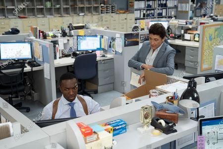 Stock Picture of Jamie Hector as Jerry Edgar and Amy Aquino as Lt. Grace Billets