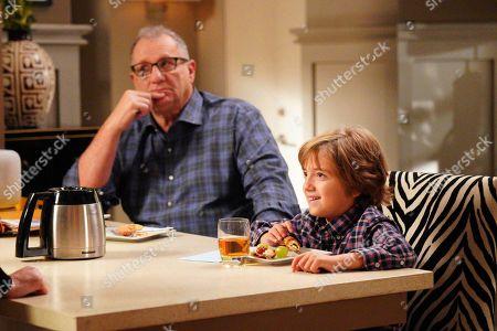 Ed O'Neill as Jay Pritchett and Jeremy Maguire as Joe Pritchett