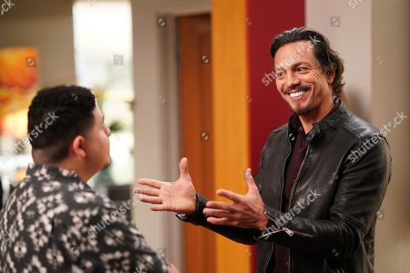 Rico Rodriguez as Manny Delgado and Benjamin Bratt as Javier Delgado
