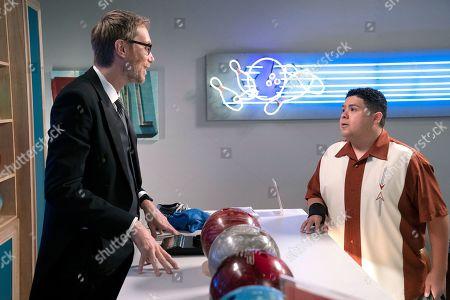 Stephen Merchant as Higgins and Rico Rodriguez as Manny Delgado