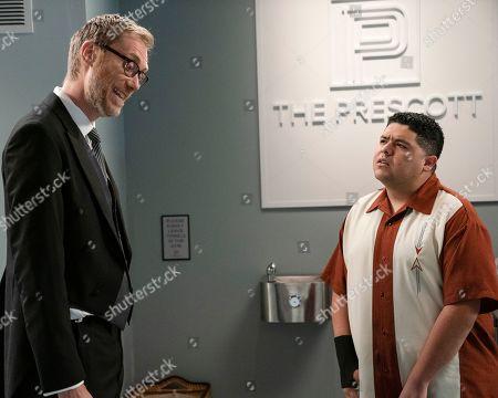 Stock Photo of Stephen Merchant as Higgins and Rico Rodriguez as Manny Delgado