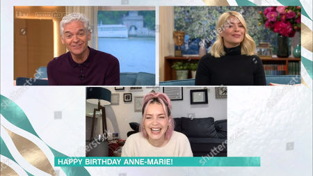 Phillip Schofield and Holly Willoughby sing 'Happy Birthday' to Anne-Marie Rose Nicholson