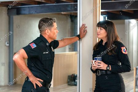 Rob Lowe as Owen Strand and Liv Tyler as Michelle Blake