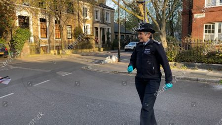 Met Police Commissioner Cressida Dick accompanied officers on early morning raids