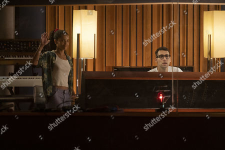 Zoe Kravitz as Robyn 'Rob' Brooks and Jack Antonoff as Jack Antonoff