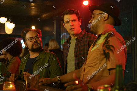 Stock Photo of Brian Silliman as The Hammer, Jake Lacy as Clyde and Rainbow Sun Francks as Cameron Brooks