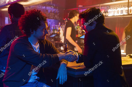 Stock Picture of David H. Holmes as Simon Miller and Christian Coulson as Benjamin Young