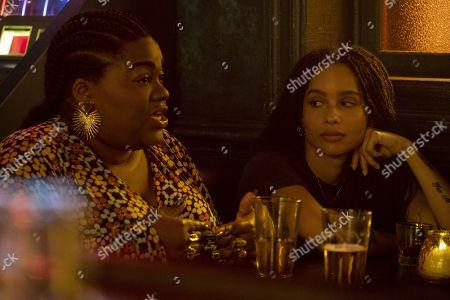 Da'Vine Joy Randolph as Cherise and Zoe Kravitz as Robyn 'Rob' Brooks