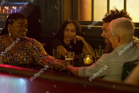 Da'Vine Joy Randolph as Cherise, Zoe Kravitz as Robyn 'Rob' Brooks, David H. Holmes as Simon Miller and Edmund Donovan as Blake