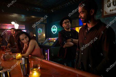 Zoe Kravitz as Robyn 'Rob' Brooks, Rainbow Sun Francks as Cameron Brooks and Kingsley Ben-Adir as Russell 'Mac' McCormack