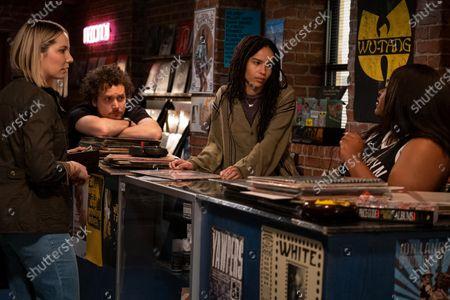 David H. Holmes as Simon Miller, Zoe Kravitz as Robyn 'Rob' Brooks and Da'Vine Joy Randolph as Cherise
