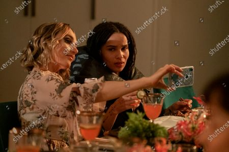 Chloe Fineman as Clara and Zoe Kravitz as Robyn 'Rob' Brooks