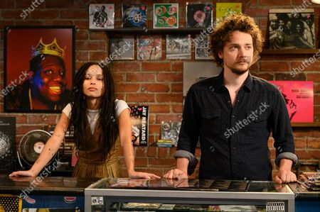 Zoe Kravitz as Robyn 'Rob' Brooks and David H. Holmes as Simon Miller