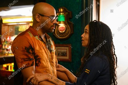 Rainbow Sun Francks as Cameron Brooks and Zoe Kravitz as Robyn 'Rob' Brooks