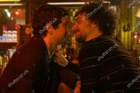 Stock Photo of Christian Coulson as Benjamin Young and David H. Holmes as Simon Miller
