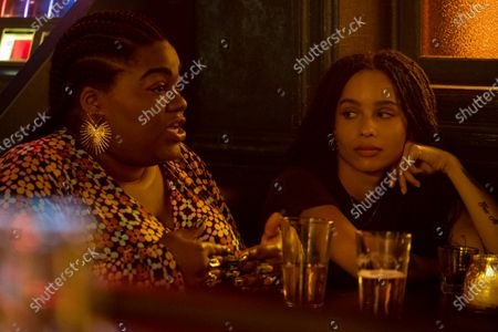 Da'Vine Joy Randolph as Cherise and Zoe Kravitz as Robyn 'Rob' Brooks