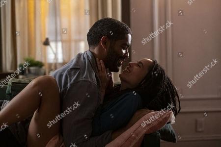 Kingsley Ben-Adir as Russell 'Mac' McCormack and Zoe Kravitz as Robyn 'Rob' Brooks