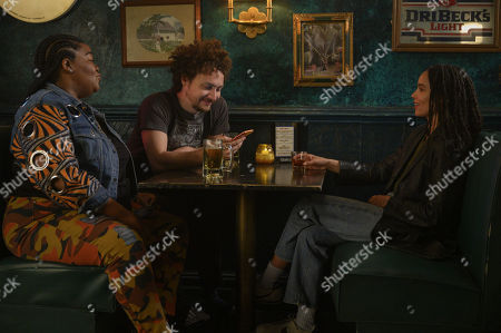 Da'Vine Joy Randolph as Cherise, David H. Holmes as Simon Miller and Zoe Kravitz as Robyn 'Rob' Brooks