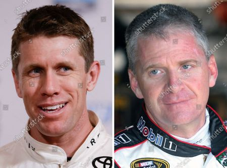 Stock Picture of And Jeff Burton in a 2014 file photo. Carl Edwards and Jeff Burton are among the new nominees for NASCAR's next Hall of Fame class
