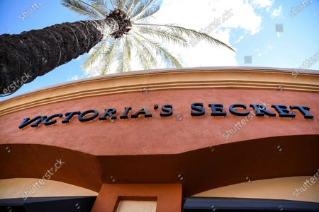 Stock Image of Victoria Secret retail stores at the outdoor mall Cabazon Outlets are open but largely empty due to Covid-19 Corona virus fears in Cabazon, California John Green/CSM