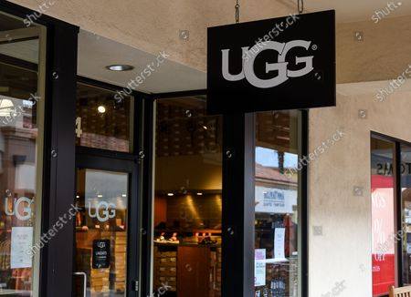 Ugg retail stores at the outdoor mall Cabazon Outlets are open but largely empty due to Covid-19 Corona virus fears in Cabazon, California John Green/CSM