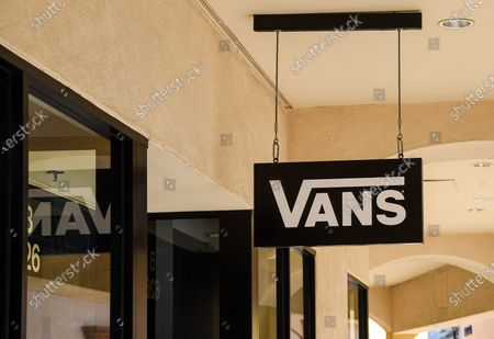 Vans Shoes store at retail stores at the outdoor mall Cabazon Outlets are open but largely empty due to Covid-19 Corona virus in Cabazon, California John Green/CSM