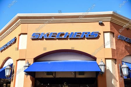 Few customers at the Sketchers retail stores at the outdoor mall Cabazon Outlets are open but largely empty due to Covid-19 Corona virus in Cabazon, California John Green/CSM
