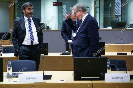 Editorial picture of COREPER meeting in Brussels, Belgium - 08 Apr 2020