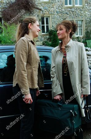 Stock Photo of Ep 3147 Tuesday 2nd April 2002  The arrival of Jess' mum, Anne Marie, gives Nicola Blackstock the perfect opportunity for yet more scheming. With Jess Weston, as played by Ruth Abram; Anne Marie Weston, as played by Tanya Myers.